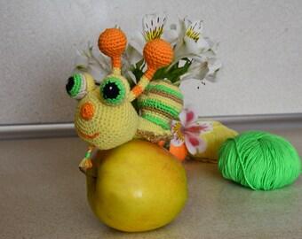 Crochet snail toy Crochet stuffed toy Crochet snail Amigurumi snail Snail Nursery Birthday gift Photo prop Amigurumi crochet Handmade toy