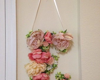 Custom-Made Floral Letter
