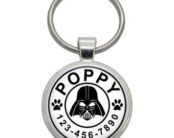 Pet ID Tag - Darth Vader ( Star Wars ) - Pet Tags,  Dog Tags, Cat Tags, Dog ID Tags, Cat ID Tags