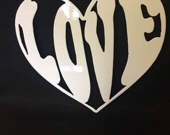 Heart Shaped Love Wall Art