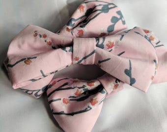 Cotton Cherry Blossom Hair Bow