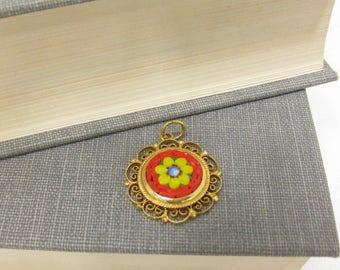 Vintage Italian Made Mini Mosaic Pendant