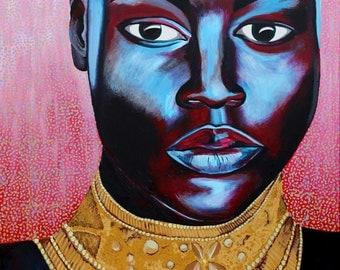 Mujaji Goddess The Rain Queen 10x8 inch Fine Art Giclee Print