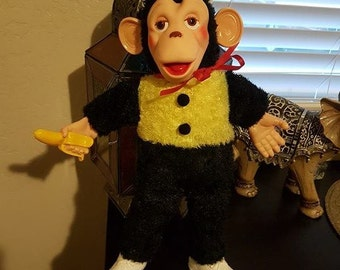 "Mr. Bim Columbia 16"" Vintage Plush Monkey"
