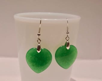 Gorgeous Green Jade Earrings
