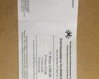 500 x Raffle Tickets - Designed & Printed in house - Personalise - Fast Turn Around
