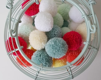 Ready made pom poms, for your project, or up-cycle.