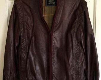 Vintage 1980's Burberrys Leather Jacket