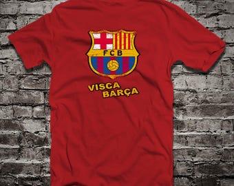 FC Barcelona distressed t-shirt camiseta Visca Barça