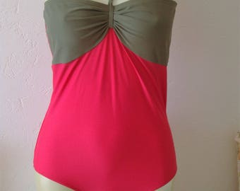 Pink and green swimsuit size 20 by Beach to Beach