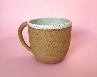 The Weekend Mug in White - Wheel Thrown Handmade Ceramic Coffee Mug
