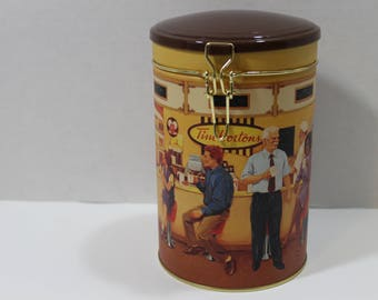 "TIM HORTONS Collectors Coffee Tin/Canister ~ First Edition ""Gathering Place"""