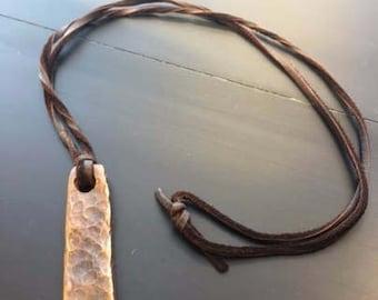 Blacksmith's Copper Bar Necklace