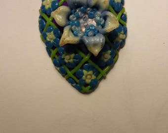 Blue And Purple Garden Pendant