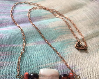 Red Toned Amazonite Necklace