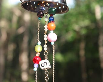 Miniature Colander Wind Chimes