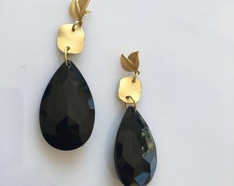 brass pendulum 08 resin earring
