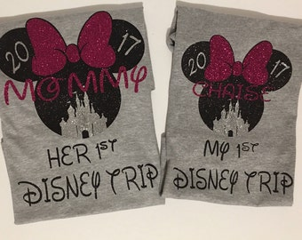 Disney Trip Shirts, My First Disney Trip Shirt, My First Trip to Disney Minnie Mouse Shirt, Minnie Mouse Shirt, Disney Shirt, Pandora