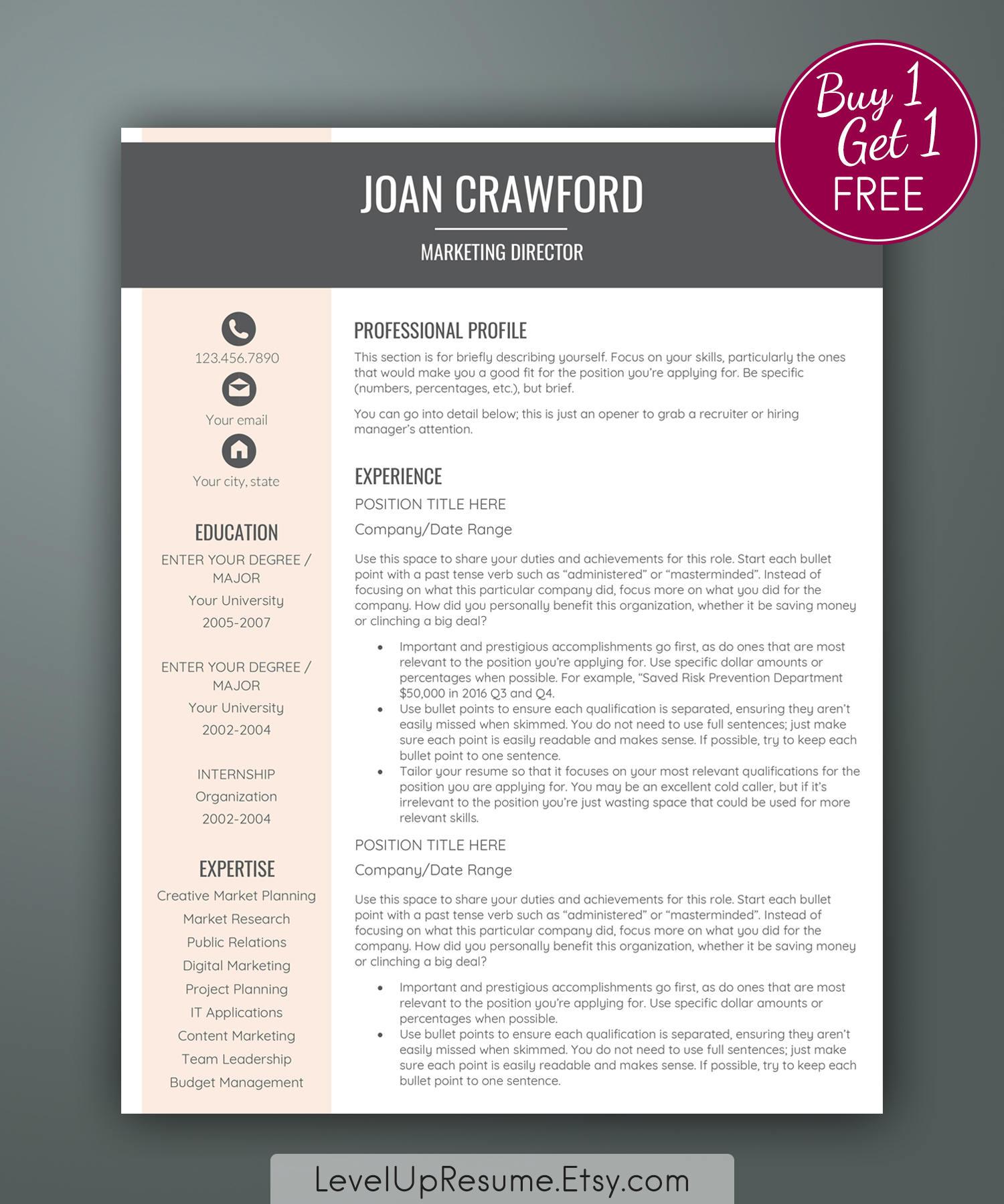 elegant resume template marketing resume template feminine resumes editable resume for word business resume simple printable - Marketing Resumes