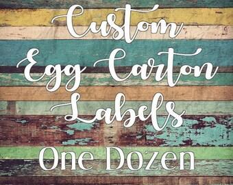 Custom Egg Carton Label - One Dozen