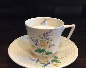 Soy Teacup Candle Vintage Fine China