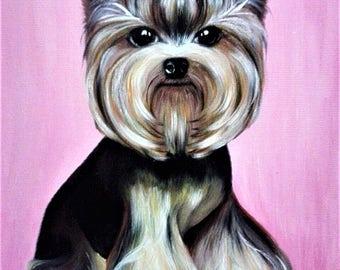 Custom pet portrait. Custom dog oil painting. Pet porttrait. custom dog portrait - oil painting on canvas.