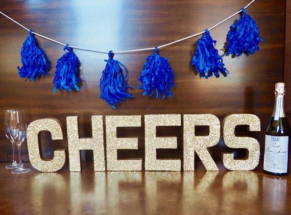 gold cheers stand up letters bachelorette party