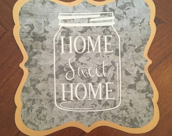 Home Sweet Home Wall hanger, Mason jar, wall art, home decor