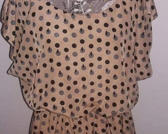 Chic Polka-dot dress      size XL