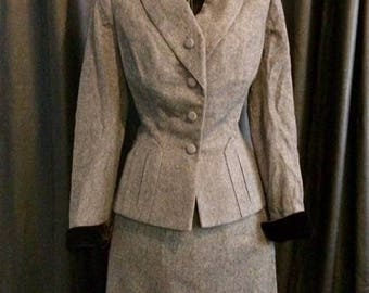 Vintage grey dress suit Joske's of Texas
