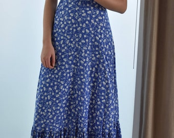 Laura Ashley Archive Collection Halter Neck Maxi Dress