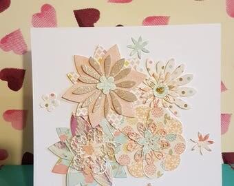 Handmade Greetings Card 6x6 inches