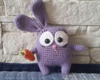 Cute Bunny , big carrot lover