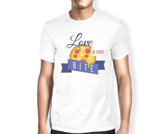 Love at first bite - Funny and Stylish Men T-Shirt! Great Present!