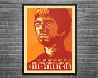 Noel Gallagher Artwork Poster
