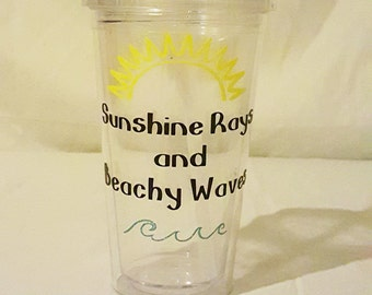 Re-usable Beach Cold Beverage Tumbler