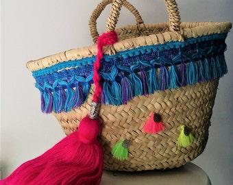 Basket boho Bag