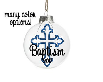 Personalized Baptism Gift For Godson, Baptism Ornament, Gift From Godparent, Gift for Boy, Gift Boy, Personalized Christening Gift, Cross