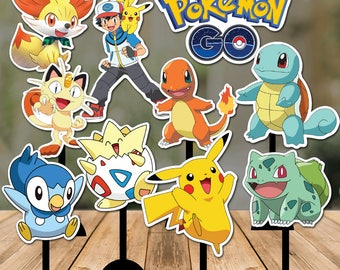Pokemon GO Centerpieces Double sided - 10 Pokemon Centerpiece -Pikachu Centerpiece - Pokemon Decoration - Pokémon printable Instant Download