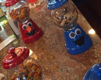 Elmo & Cookie Monster Centerpieces / Cookie Jars