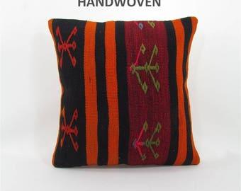 sofa pillow kilim pillow cover decorative pillow anatolian pillow throw cushion pillow kilim sofa cushion cover furniture accessory 000286