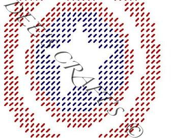 CAPTAIN AMERICA - Captain America Logo - Comic Collection - Tissue Box Cover Plastic Canvas Pattern