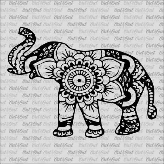 aztec elephant svg aztec print design cut files silhouette