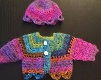 Crochet Sweater and Hat Set for 18 Inch Doll