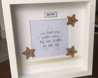 Handmade Dad/Fathers Day Star Frame