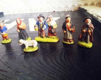 3.5 cm small figurines filigree work filigree decoration old figures