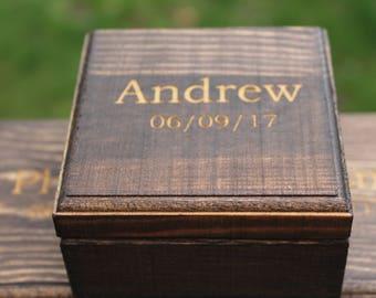 Groomsmen Gift Box, Small Box, Personalized Boxes, Custom Gift Boxes, Engraved Gift Boxes, Personalized Gift Boxes, Whiskey Stone Box, Box
