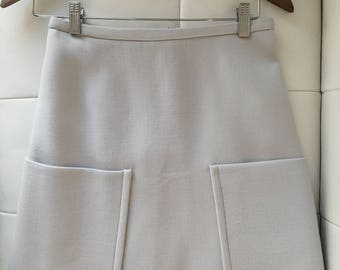 Marc Jacobs swing / A-line, light gray skirt with large pockets