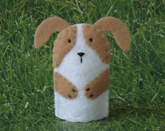 Puppy Dog Finger Puppet - Select a Color - Dog Puppet - Felt Puppy Finger Puppet - Pet Dog Finger Puppet