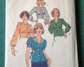 Vintage Simplicity 6576 Shirts  Size 14 Bust 36